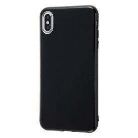 イングレム Ingrem iPhone XS Max 6.5インチモデル用 TPUソフトケース Colorap IN-P19CP1/B ブラック