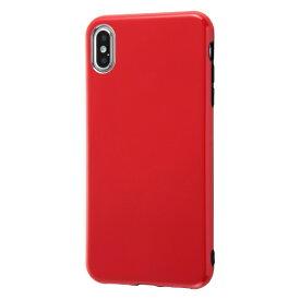 イングレム Ingrem iPhone XS Max 6.5インチモデル用 TPUソフトケース Colorap IN-P19CP1/R レッド