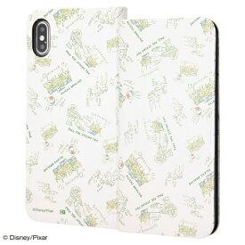 イングレム Ingrem iPhone XS Max 6.5インチモデル用 『ディズニー・ピクサーキャラクター』/手帳型アートケース マグネット スリム IN-DP19MLC3/TY022 トイ・ストーリー_022