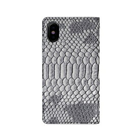 ROA ロア iPhone XS Max 6.5インチ用 Matt Python Diary グレー
