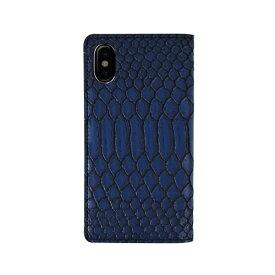 ROA ロア iPhone XS Max 6.5インチ用 Matt Python Diary ブルー