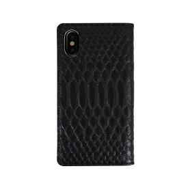 ROA ロア iPhone XS Max 6.5インチ用 Matt Python Diary ブラック