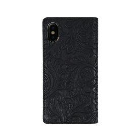 ROA ロア iPhone XS Max 6.5インチ用 Paisley Diary ブラック
