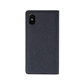 ROA ロア iPhone XS Max 6.5インチ用 Saffiano Flip Case クラシックネイビー