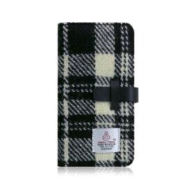 ROA ロア iPhone XS Max 6.5インチ用 Harris Tweed Diary ホワイト×ブラック