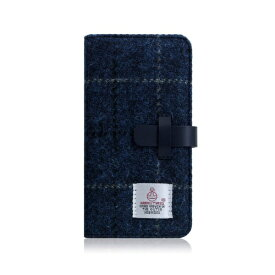 ROA ロア iPhone XS Max 6.5インチ用 Harris Tweed Diary ネイビー