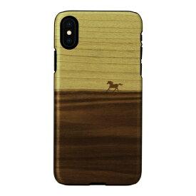 ROA ロア iPhone XS Max 6.5インチ用 天然木ケース ウマ