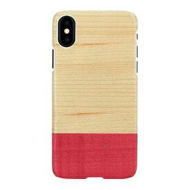 ROA ロア iPhone XS Max 6.5インチ用 天然木ケースMiss match ブラックフレーム
