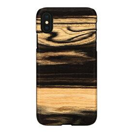 ROA ロア iPhone XS Max 6.5インチ用 天然木ケース White Ebony