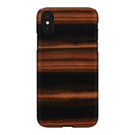 ROA ロア iPhone XS Max 6.5インチ用 天然木ケース Ebony