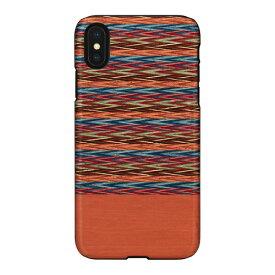 ROA ロア iPhone XS Max 6.5インチ用 天然木ケース Browny Check