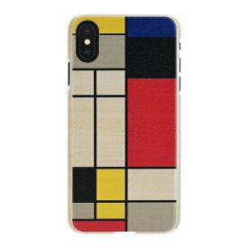 ROA ロア iPhone XS Max 6.5インチ用 天然木ケース Mondrian Wood
