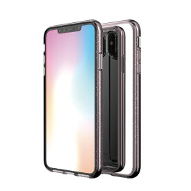 ROA ロア iPhone XS Max 6.5インチ用 BOIDO MIRROR CLEAR PINK CRYSTAL