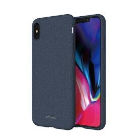 ROA ロア iPhone XS Max 6.5インチ用 JELLO PEBBLE EDITION ネイビーブルー