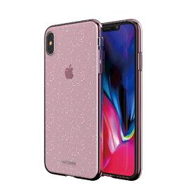 ROA ロア iPhone XS Max 6.5インチ用 JELLO クリアピンクパール