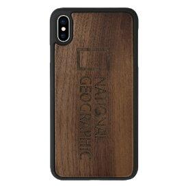 ROA ロア iPhone XS Max 6.5インチ用 Nature Wood ウォルナット