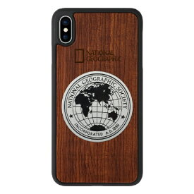 ROA ロア iPhone XS Max 6.5インチ用 Metal-Deco Wood Case ローズウッド