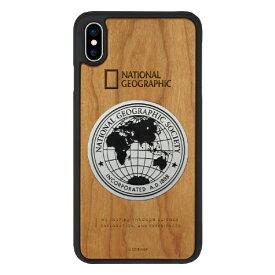 ROA ロア iPhone XS Max 6.5インチ用 Metal-Deco Wood Case チェリーウッド