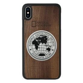 ROA ロア iPhone XS Max 6.5インチ用 Metal-Deco Wood Case ウォルナット