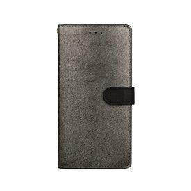 ROA ロア iPhone XS Max 6.5インチ用 CALF Diary メタルブラック