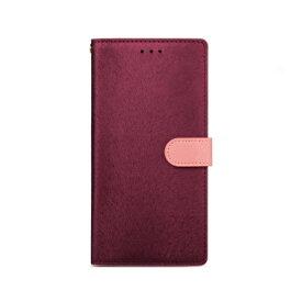 ROA ロア iPhone XS Max 6.5インチ用 CALF Diary ワインピンク