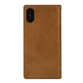 ROA ロア iPhone XS Max 6.5インチ用 ITALY COW LEATHER CASE BROWN