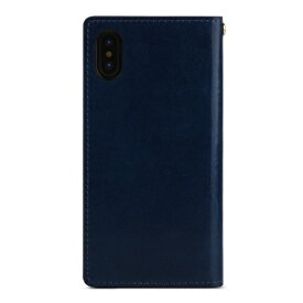 ROA ロア iPhone XS Max 6.5インチ用 ITALY COW LEATHER CASE NAVY