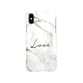 ROA ロア iPhone XS Max 6.5インチ用 Marble love white
