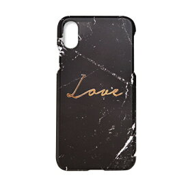 ROA ロア iPhone XS Max 6.5インチ用 Marble love black