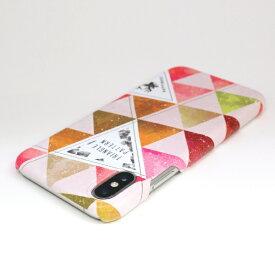 ROA ロア iPhone XS Max 6.5インチ用 Triangle Pattern ピンク