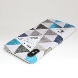 ROA ロア iPhone XS Max 6.5インチ用 Triangle Pattern ブルー