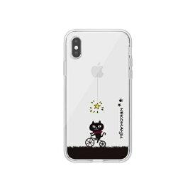 ROA ロア iPhone XS Max 6.5インチ用 ネコマンジュウクリアケース サイクリング