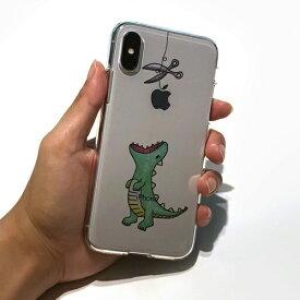 ROA ロア iPhone XS Max 6.5インチ用 ソフトクリアケース ファンタジー はらぺこザウルス