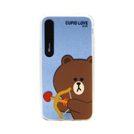 ROA ロア iPhone XS Max 6.5インチ用 LINE FRIENDS LIGHT UP CASE CUPID LOVE ブラウンキューピッド KCL-LCL013