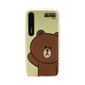 ROA ロア iPhone XS Max 6.5インチ用 LINE FRIENDS LIGHT UP CASE BASIC ブラウン KCL-LBA009