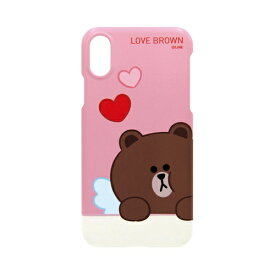 ROA ロア iPhone XS Max 6.5インチ用 LINE FRIENDS SLIM FIT CUPID LOVE ブラウン KCL-SCL009