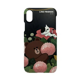 ROA ロア iPhone XS Max 6.5インチ用 LINE FRIENDS SLIM FIT CASE THEMA ブラウン KCL-SCT007