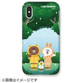 ROA ロア iPhone XS Max 6.5インチ用 LINE FRIENDS SLIM FIT CASE THEMA フォレスト KCL-SCT009