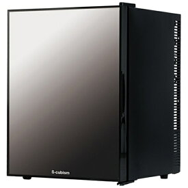 A-Stage 《基本設置料金セット》WRHM140G 冷蔵庫 S-cubism ブラック [1ドア /右開き/左開き付け替えタイプ /40L][WRHM140G]