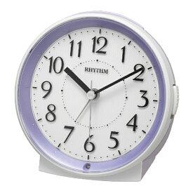 リズム時計 RHYTHM 目覚まし時計 ピュアルックR669 紫 8RE669SR12 [アナログ]