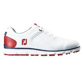 フットジョイ FootJoy メンズ ゴルフシューズ FJ PRO/SL(26.5cm/ホワイト+ネイビー+レッド)#56853【靴幅:2E】