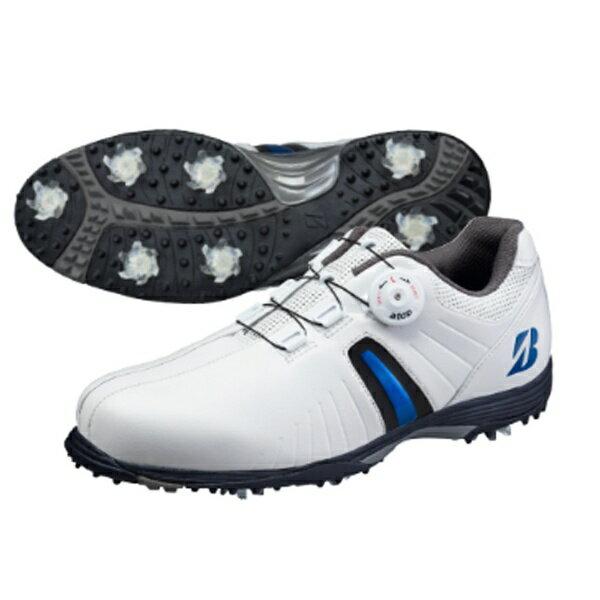 ブリヂストン BRIDGESTONE メンズ ゴルフシューズ TOUR B(25.0cm/白×青)SHG720【靴幅:3E】