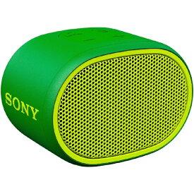 ソニー SONY ブルートゥース スピーカー SRS-XB01GC グリーン [Bluetooth対応 /防水][SRSXB01GC]