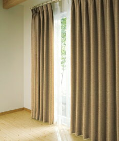 東京シンコール TOKYO SINCOL ドレープカーテン シャロット(100×200cm/ブラウン)