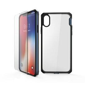 ITSKINS × MiraiSell iPhone2018 5.8inch/iPhoneX用 液晶保護ガラス付き耐衝撃ケース MSIT-P858ENV ネイビー