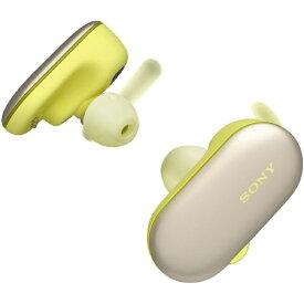 ソニー SONY フルワイヤレスイヤホン イエロー WF-SP900YM [リモコン・マイク対応 /ワイヤレス(左右分離) /Bluetooth][ワイヤレスイヤホン ウォークマン WFSP900YM]