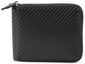 モンテスピガ monte SPIGA monte SPIGA モンテスピガ 二つ折り財布 MOSQS553CBKRD カーボン調 ブラック×レッド メンズ