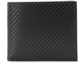 モンテスピガ monte SPIGA monte SPIGA モンテスピガ 二つ折り財布 MOSQS371BBKRD カーボン調 ブラック×レッド メンズ