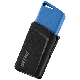 BUFFALO バッファロー RUF3-SP64G-BL USBメモリー USB3.1/3.0/2.0対応 64GB プッシュスライド式 RUF3-SPシリーズ ブルー [64GB /USB3.1 /USB TypeA /ノック式][RUF3SP64GBL]