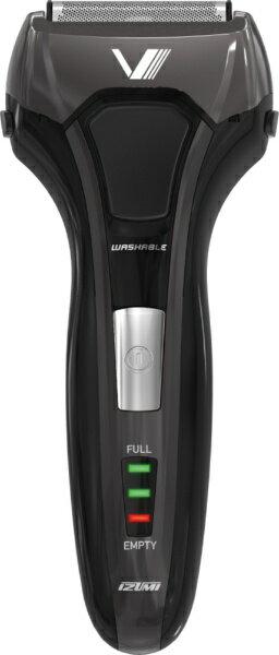 泉精器 Izumi products IZF-V558-K メンズシェーバー S-DRIVE ソリッドシリーズ ブラック [4枚刃 /国内・海外対応][IZFV558 電気シェーバー]